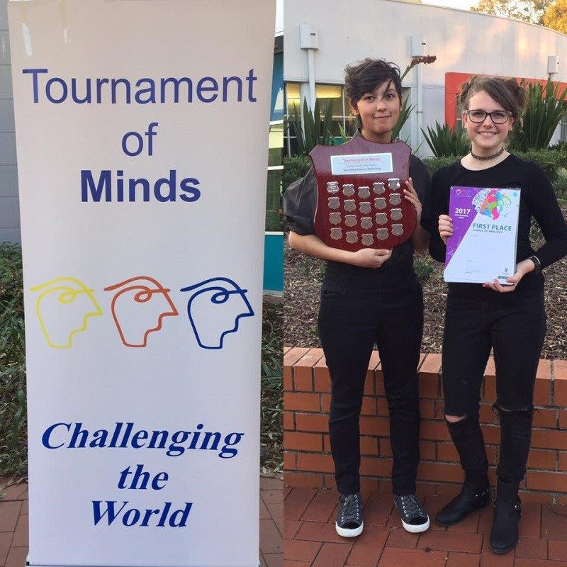 Our Tournament of the Minds team progressed to the State Final in 2016 and 2017